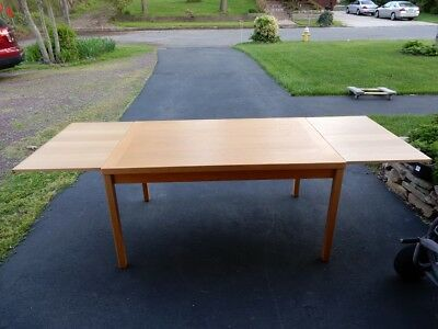 1950's Solid Maple Danish Dining Table
