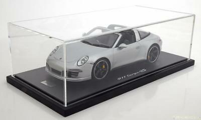 GT Spirit 2015 Porsche 911 (991) Targa 4S Silver Dealer Ed 1/18 Scale LE of 500