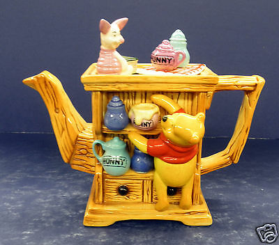 Cardew Winnie the Pooh 2 Cup Hutch Teapot- New!  #079037- Limited Edition
