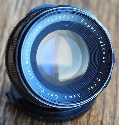Asahi Super Takumar 55mm 1:2 M42 mount lens | Pentax screw mount 55/2 55 f2