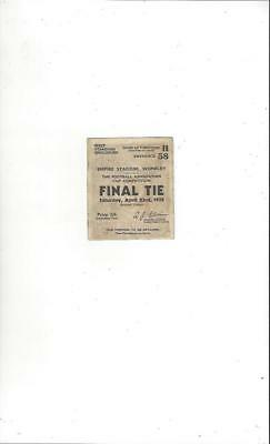 Arsenal v Newcastle United FA Cup Final 1932 Match Ticket