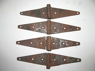 "4 Vintage 12"" Metal Strap Hinges Barn Door / Gate"