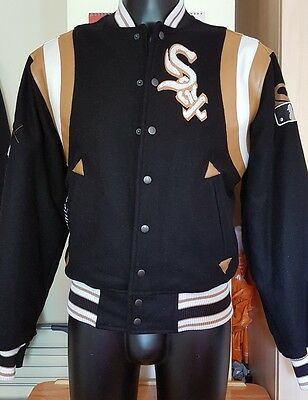 Rare Chicago White Sox wool bomber jacker/Magestic  size Medium