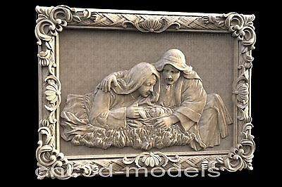 3D STL Models for CNC Router Engraver Carving Artcam Aspire Religion 099
