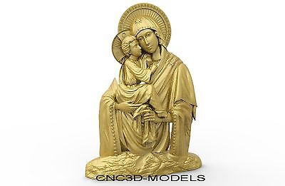 3D Model STL for CNC Router Engraver Carving Relief Artcam Aspire Religion 8180