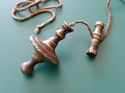 Late 18c.ANTIQUE OTTOMAN TURKISH Brass PLUMB BOB LEVEL for stone masonry