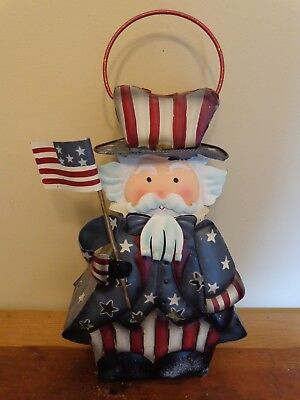 Home Interiors Uncle Sam Metal Candle Lantern