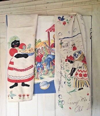 Vintage Black Memorabilia Towels