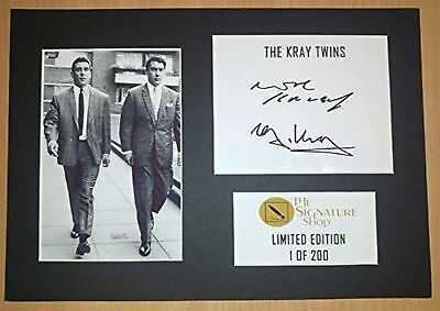 Limited Edition The Kray Twins Signed Mount Print