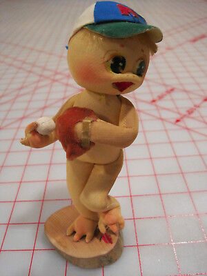 Vintage Shibaten Japanese Baseball Pitcher Doll Collectible w Original Tag