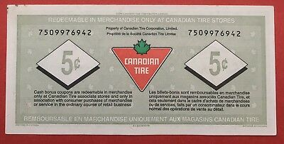 Canadian Tire S18-B UNC Coupon