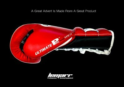 ORIGINAL LEMARR ULTIMATE PRO MK 11 BOXING GLOVES 12 oz lace and velcro available