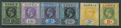 Gambia KGV 1912-22 definitives 1/ to 5/ mint o.g.