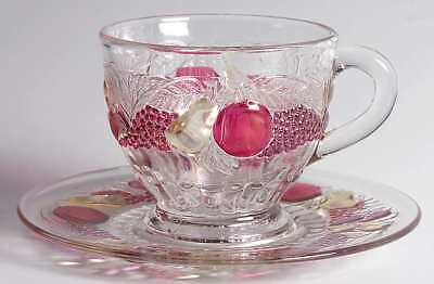 Westmoreland DELLA ROBBIA-FLASHED Punch Cup & Saucer 8577932