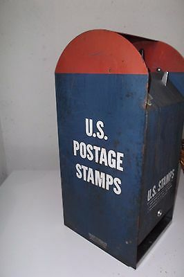 Vintage US POSTAGE STAMPS vending machine- post office mailbox design
