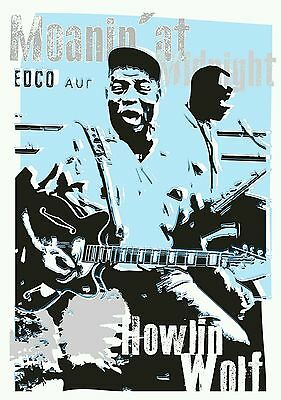 Howlin Wolf blues specially designed poster prints