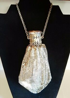 Antique Expandable Whiting & Davis Silver Mesh Metal Flapper Purse Art Deco