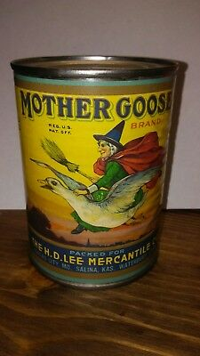 Vintage Can Bank MOTHER GOOSE BRAND PEACHES