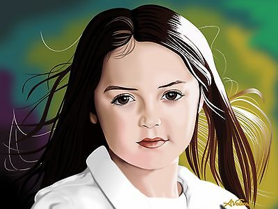 Custom child portraits digital painting from photo hand painted 100% guarantee