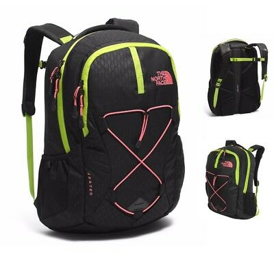 1506b2fbf Women's North Face Jester Backpack TNF Black Emboss Calypso Coral Daypack