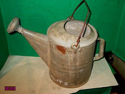 Antique Galvanized 10 Quart Watering Can With Spout No Leaks