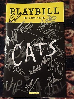 Cast Signed Cats Playbill