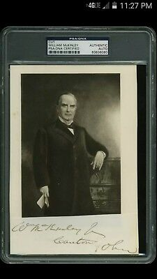 William McKinley Autograph PSA/DNA Authentic!