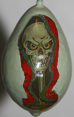halloween gourd ornament with skull