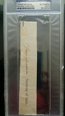 James Madison Autograph PSA/DNA authentic!