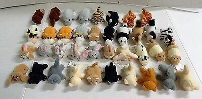 Pound Puppies Purries Bunnies Horse Cow Pig Giraffe HUGE Mini Plush Lot of 38