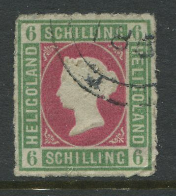 Heligoland QV 1867 6 schillings CDS used