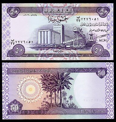 Note From Asian/irq , 1 Note Of 50 Dinars, 2003, P-90, Unc From Bundle