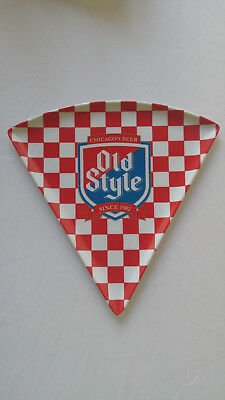 Old Style Beer Logo PIZZA SLICE PLATE Plastic TRAY Chicago's Beer Since 1902