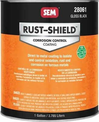RUST-SHIELD -2.8 Gloss Black SEM-28061 Brand New!