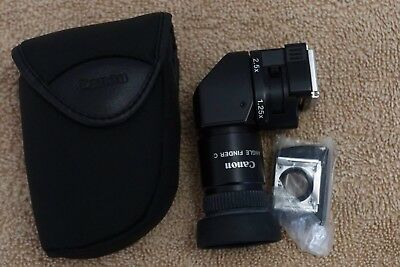 Canon Angle Finder C with two eyepieces and case, rarely used
