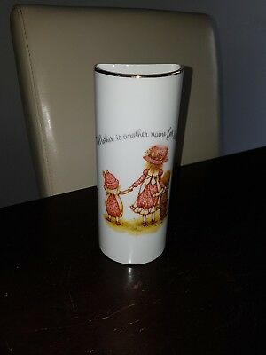 holly hobbie wall 1/2 vase vintage