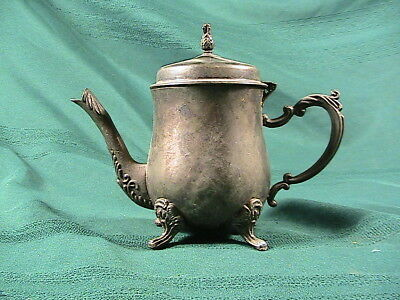 Silver plate  teapot- small but cute! planter