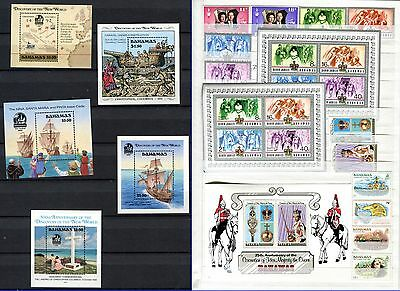 Bahamas 27 Stamps 1972 - 1988 ** Including Columbus & Silver Jubilee Souvenirs