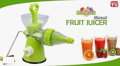 Juice Wizard - Manual Hand Rotating Juicer (Vegetable, Fruit, Wheatgrass)