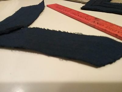 Original black with blue stripes single rank patch Civil war uniform