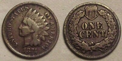 1874 Indian Head Cent__mid-grade coin__nice even color