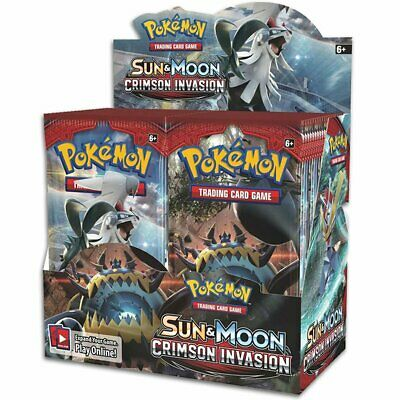 POKEMON TCG Sun & Moon Crimson Invasion Booster Box - Includes 36 Booster Packs
