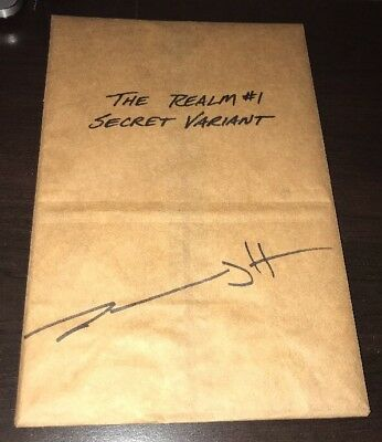 The Realm #1 NM Secret Variant Limited 250 SOLD OUT SEALED Signed by Jeremy Haun