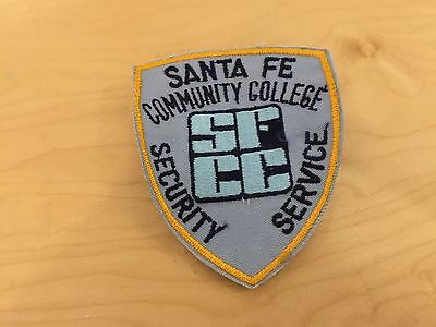 SANTA FE COMMUNITY COLLEGE SECURITY SERVICE  , patch,new old stock, 1960's