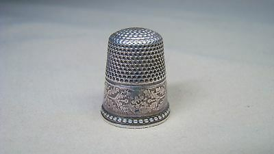 Antique Victorian Sterling Thimble Engraved #6 or #9