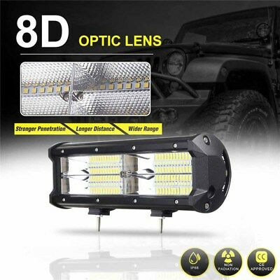 7inch 21600LM 216W 8D LED Work Light Bar Flood Driving Lamp SUV ATV Offroad 4WD