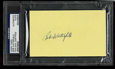 Bob Waterfield   Signed Index Card  Autograpghed Psa/dna 65049858