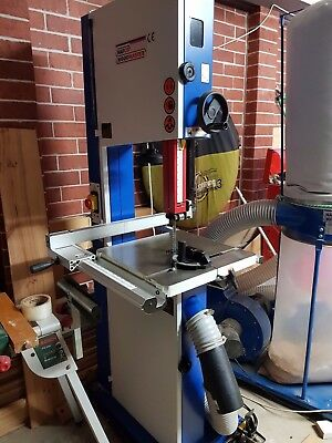 Wood Band Saw -Excellent Condition barely used ($1925RRP) + Mobile base + Blades