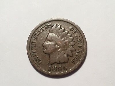 1894 US Indian Head one cent coin.