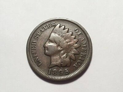 1895 US Indian Head one cent coin.